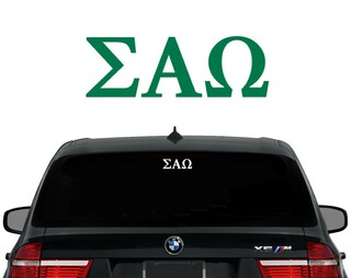 Sigma Alpha Omega Letters Decal