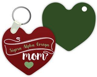 Sigma Alpha Omega Mom Keychain