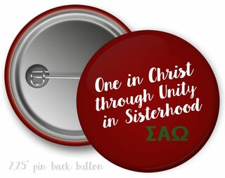 Sigma Alpha Omega Motto Button