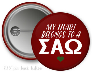 Sigma Alpha Omega My Heart Belongs to a Button