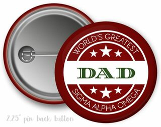Sigma Alpha Omega World's Greatest Dad Button