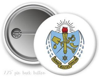 Sigma Delta Tau Color Crest - Shield Button