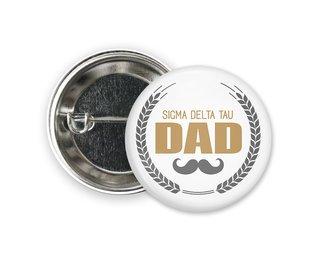 Sigma Delta Tau Dadstache Button