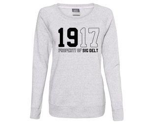 Sigma Delta Tau Established Crewneck Sweatshirt