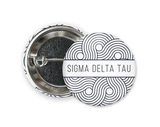 Sigma Delta Tau Geo Scroll Button Pin