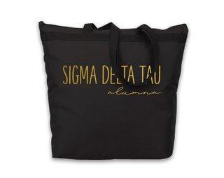 Sigma Delta Tau Gold Foil Alumna Tote