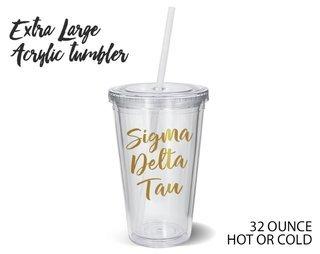Sigma Delta Tau Metallic Gold XL Tumbler