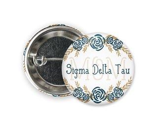 Sigma Delta Tau Mom Floral Button