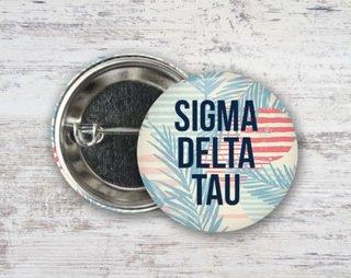 Sigma Delta Tau Paradise Found Button