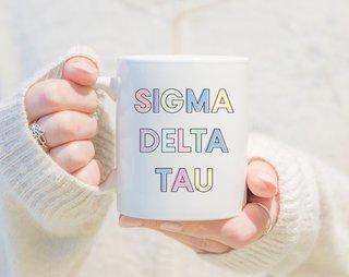 Sigma Delta Tau Pastel Mug