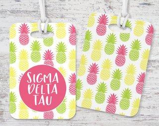 Sigma Delta Tau Pineapple Luggage Tag