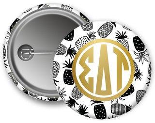Sigma Delta Tau Pineapples Button