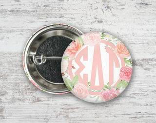 Sigma Delta Tau Pretty In Pink Button