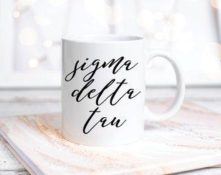 Sigma Delta Tau Script Mug