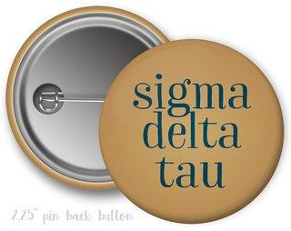 Sigma Delta Tau Simple Text Button