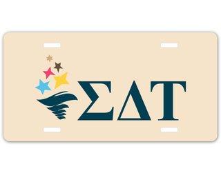 Sigma Delta Tau Sorority Logo License Cover