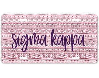 Sigma Kappa Aztec License Plate