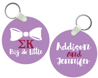 Sigma Kappa Big and Little Keychain