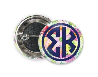 Sigma Kappa Bouquet Button