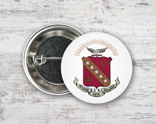 Sigma Kappa Color Crest - Shield Button