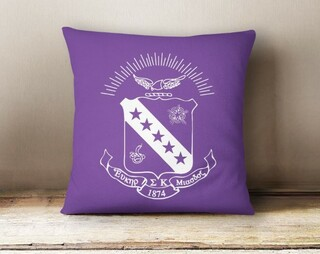Sigma Kappa Crest - Shield Colored Pillow