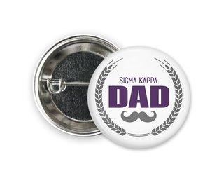 Sigma Kappa Dadstache Button