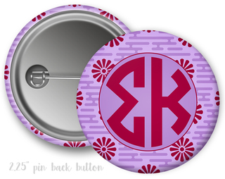 Sigma Kappa Floral Button
