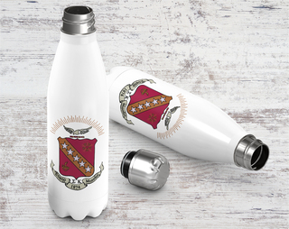 Sigma Kappa Crest - Shield Stainless Steel Water Bottle