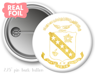 Sigma Kappa Foil Crest - Shield Button