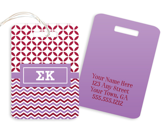 Sigma Kappa Geometric Luggage Tag
