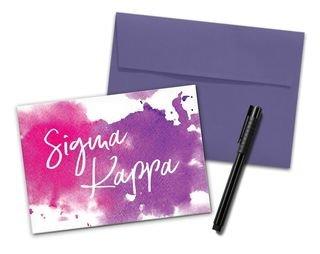 Sigma Kappa Watercolor Notecards(6)