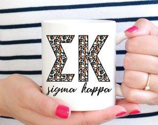 Sigma Kappa Leopard Mug