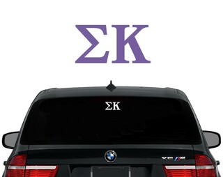 Sigma Kappa Letters Decal