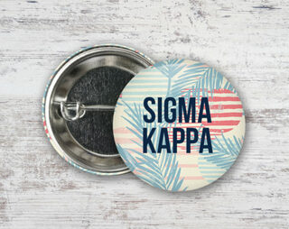 Sigma Kappa Paradise Found Button