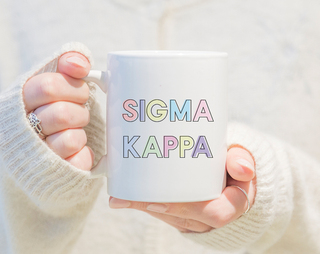Sigma Kappa Pastel Mug