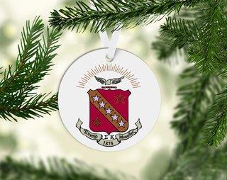 Sigma Kappa Round Acrylic Crest - Shield Ornament
