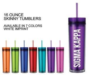 Sigma Kappa Skinny Tumbler