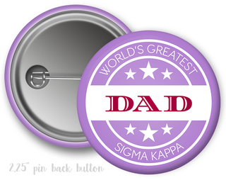 Sigma Kappa World's Greatest Dad Button