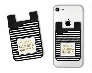 Sigma Lambda Gamma Gold Stripes Caddy Phone Wallet