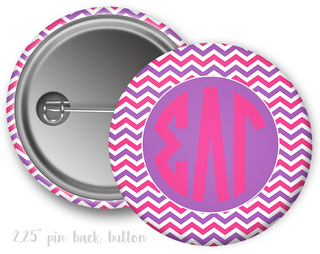 Sigma Lambda Gamma Chevron Monogram Button