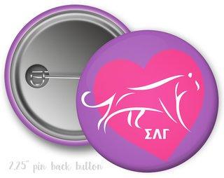 Sigma Lambda Gamma Heart Mascot Button