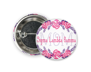 Sigma Lambda Gamma  Mom Floral Button