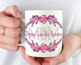 Sigma Lambda Gamma  Mom Floral Mug