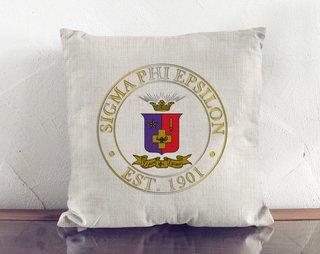 Sigma Phi Epsilon Crest Linen Pillow