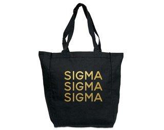 Sigma Sigma Sigma Gold Foil Tote bag