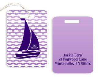Sigma Sigma Sigma Sailboat Luggage Tags