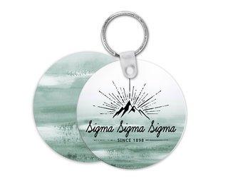 Sigma Sigma Sigma Key Chain Round