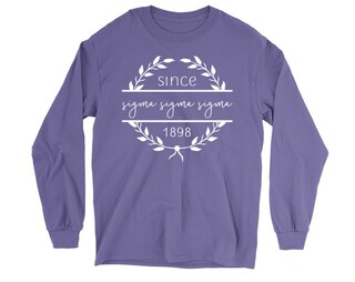 Sigma Sigma Sigma Since 1898 Long Sleeve