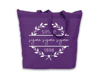 Sigma Sigma Sigma Since Established Tote bag