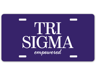 Sigma Sigma Sigma Sorority Logo License Cover